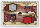 2009 Upper Deck SP Legendary Cuts Generations Dual Memorabilia #GMJO David Ortiz Reggie Jackson