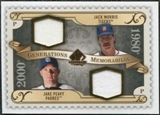 2009 Upper Deck SP Legendary Cuts Generations Dual Memorabilia #GMMP Jake Peavy Jack Morris