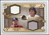 2009 Upper Deck SP Legendary Cuts Generations Dual Memorabilia GMPV Jason Varitek Tony Perez