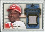 2009 Upper Deck SP Legendary Cuts Legendary Memorabilia Blue #JM Joe Morgan /100