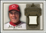 2009 Upper Deck SP Legendary Cuts Legendary Memorabilia Brown #JB Johnny Bench /50