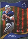 2009 Upper Deck Icons Gold Holofoil Die Cut #1 Tony Romo /75