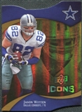 2009 Upper Deck Icons Gold Holofoil Die Cut #4 Jason Witten /75
