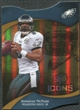 2009 Upper Deck Icons Gold Holofoil Die Cut #9 Donovan McNabb /75