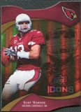2009 Upper Deck Icons Gold Holofoil Die Cut #19 Kurt Warner /75