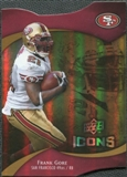 2009 Upper Deck Icons Gold Holofoil Die Cut #20 Frank Gore /75