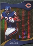2009 Upper Deck Icons Gold Holofoil Die Cut #25 Matt Forte /75
