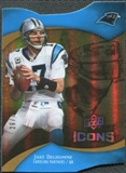 2009 Upper Deck Icons Gold Holofoil Die Cut #37 Jake Delhomme /75