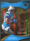 2009 Upper Deck Icons Gold Holofoil Die Cut #38 Steve Smith /75