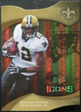 2009 Upper Deck Icons Gold Holofoil Die Cut #42 Marques Colston /75