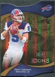 2009 Upper Deck Icons Gold Holofoil Die Cut #46 Trent Edwards /75