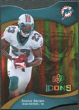 2009 Upper Deck Icons Gold Holofoil Die Cut #50 Ronnie Brown /75