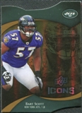 2009 Upper Deck Icons Gold Holofoil Die Cut #55 Bart Scott /75