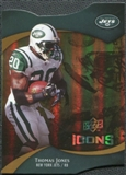 2009 Upper Deck Icons Gold Holofoil Die Cut #56 Thomas Jones /75