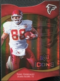 2009 Upper Deck Icons Gold Holofoil Die Cut #65 Tony Gonzalez /75