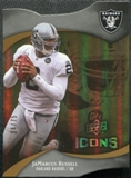 2009 Upper Deck Icons Gold Holofoil Die Cut #66 JaMarcus Russell /75