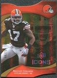 2009 Upper Deck Icons Gold Holofoil Die Cut #81 Braylon Edwards /75