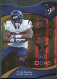2009 Upper Deck Icons Gold Holofoil Die Cut #87 Steve Slaton /75