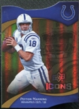 2009 Upper Deck Icons Gold Holofoil Die Cut #90 Peyton Manning /75