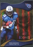2009 Upper Deck Icons Gold Holofoil Die Cut #98 Chris Johnson /75