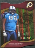 2009 Upper Deck Icons Gold Holofoil Die Cut #99 Albert Haynesworth /75