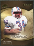 2009 Upper Deck Icons Gold Holofoil Die Cut #184 Earl Campbell /25