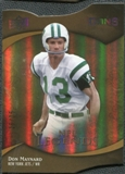 2009 Upper Deck Icons Gold Holofoil Die Cut #190 Don Maynard /25