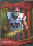 2009 Upper Deck Icons Gold Holofoil Die Cut #123 Clay Matthews /50