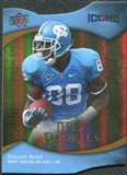 2009 Upper Deck Icons Gold Holofoil Die Cut #131 Hakeem Nicks /50