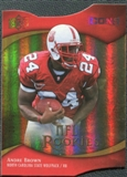 2009 Upper Deck Icons Gold Holofoil Die Cut #134 Andre Brown /50