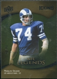 2009 Upper Deck Icons Gold Foil #182 Merlin Olsen /99