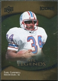 2009 Upper Deck Icons Gold Foil #184 Earl Campbell /99