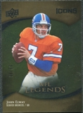2009 Upper Deck Icons Gold Foil #193 John Elway /99