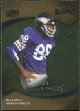 2009 Upper Deck Icons Gold Foil #198 Alan Page /99