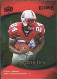 2009 Upper Deck Icons Gold Foil #134 Andre Brown /99
