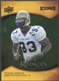 2009 Upper Deck Icons Gold Foil #143 Michael Johnson /99