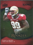 2009 Upper Deck Icons Gold Foil #152 Everette Brown /99