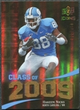 2009 Upper Deck Icons Class of 2009 Gold #HN Hakeem Nicks /130