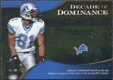 2009 Upper Deck Icons Decade of Dominance Silver #DDCJ Calvin Johnson /450