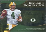 2009 Upper Deck Icons Decade of Dominance Silver #DDFA Brett Favre /450