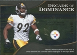 2009 Upper Deck Icons Decade of Dominance Silver #DDJH James Harrison /450
