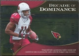 2009 Upper Deck Icons Decade of Dominance Silver #DDLF Larry Fitzgerald /450