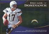 2009 Upper Deck Icons Decade of Dominance Silver #DDPR Philip Rivers /450