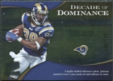 2009 Upper Deck Icons Decade of Dominance Silver #DDSJ Steven Jackson /450