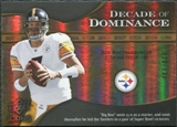 2009 Upper Deck Icons Decade of Dominance Gold #DDBR Ben Roethlisberger /130