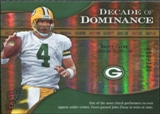 2009 Upper Deck Icons Decade of Dominance Gold #DDFA Brett Favre /130