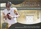 2009 Upper Deck Icons Decade of Dominance Jerseys #DDBR Ben Roethlisberger /199