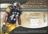 2009 Upper Deck Icons Decade of Dominance Jerseys #DDTP Troy Polamalu /199