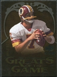 2009 Upper Deck Icons Greats of the Game Gold 199 #GGJT Joe Theismann /199