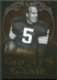 2009 Upper Deck Icons Greats of the Game Gold 199 #GGPH Paul Hornung /199